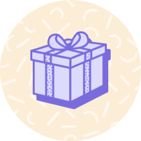 Present wrapped in a bow icon